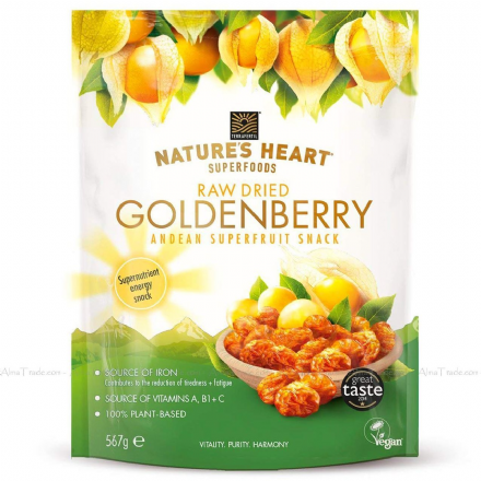 Terrafertil Nature's Heart Raw Dried Goldenberry Andean Superfruit Snack 567g